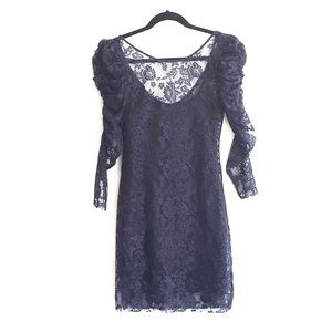Navy Zara lace dress